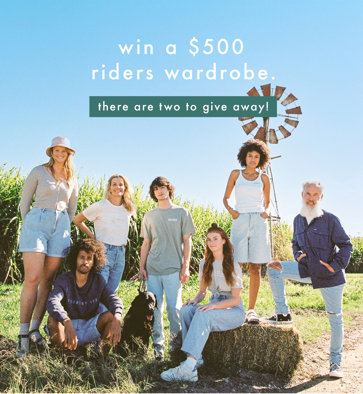 WIN A $500 RIDERS WARDROBE. THERE ARE TWO TO GIVE AWAY!